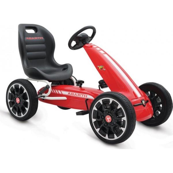 Παιδικό Αυτοκινητάκι Go Kart Abarth 500 Assetto Red με πετάλια και τροχούς EVA 3800146242695