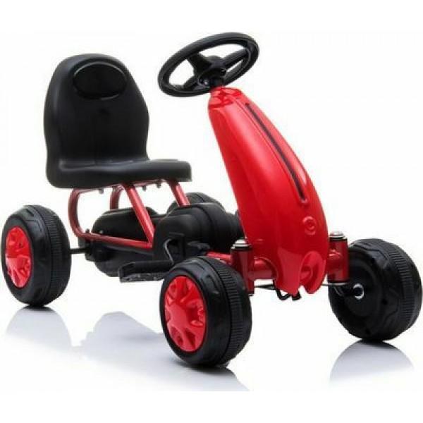 Παιδικό Αυτοκινητάκι Go Kart Blaze B001 Red με πετάλια και τροχούς EVA 3800146242978