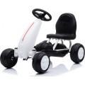 Παιδικό Αυτοκινητάκι Go Kart με πετάλια EVA Wheels Blaze B001 White 3800146242985
