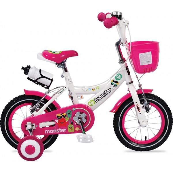 """Παιδικό ποδήλατο Byox Monster 1281 12"""" Ροζ 3800146200923"""