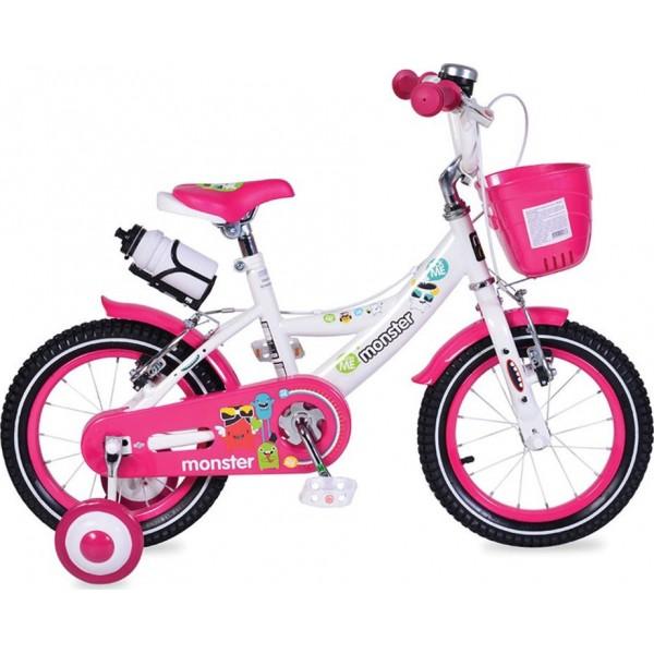 """Παιδικό ποδήλατο Byox 1481 14"""" Ροζ/Λευκό 3800146200763"""