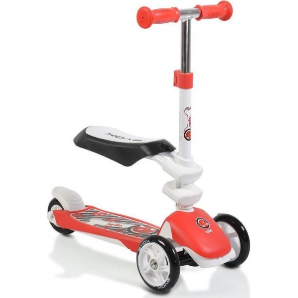 Byox Scooter Μετατρεπόμενο Epic 2 in 1 Red 3800146225582