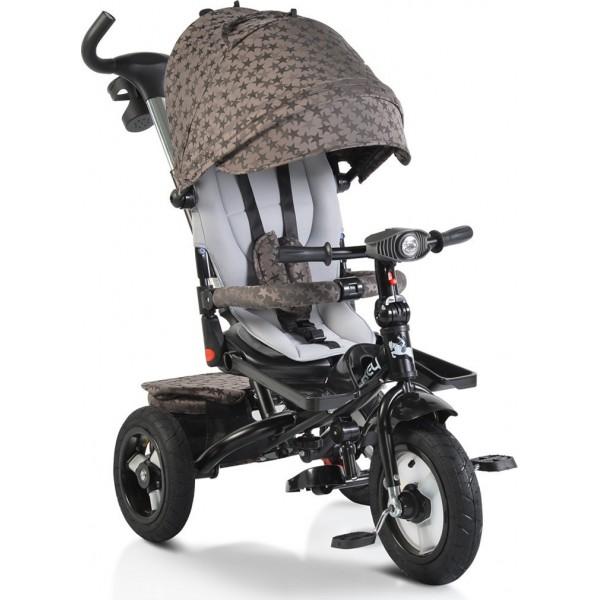 Τρίκυκλο Ποδήλατο  Byox Jockey Beige Stars  με φουσκωτούς τροχούς και μουσική 3800146242923