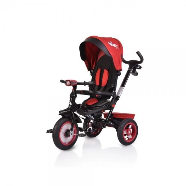 Τρίκυκλο ποδήλατο Byox Jockey  dark Red με ρόδες αέρα 3800146242909